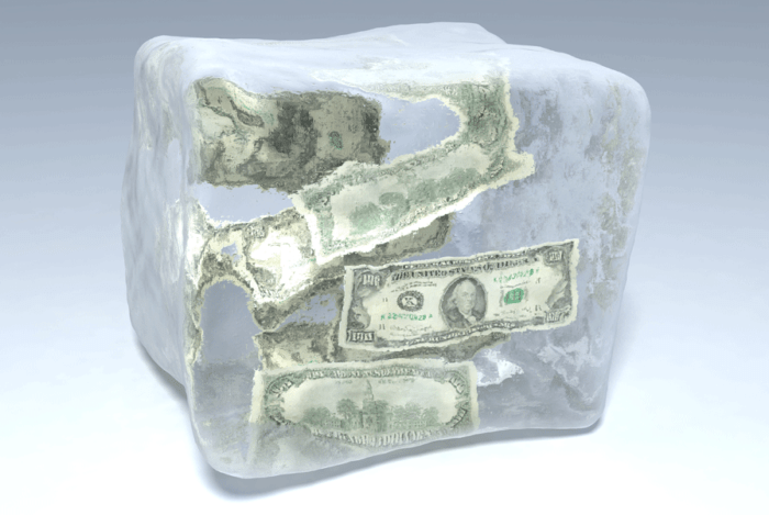 Заморозка денег :)
